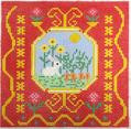BF815 French Tile Rabbit 8x8  13 Mesh Birds Of A Feather