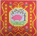 BF814 French Tile Pig 8x8 13 Mesh Birds Of A Feather