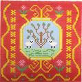 BF813 French Tile Lambs 8x8 13 Mesh Birds Of A Feather