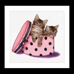 "GOK734A Thea Gouverneur Kit Kitten Twins 12"" x 12""; Aida; 16ct"