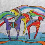 TU-WH Wind Horses 13 Mesh 10 x 10 Sundance Designs