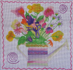 TU-WCB Watering Can Bouquet 18 Mesh 10 x 10 Sundance Designs