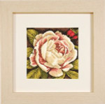 "PN144567 Lanarte Kit White Rose 7"" x 7""; Aida; 14ct"