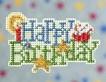 MH189102 Mill Hill Seasonal Ornament / Pin Kit Happy Birthday (2009)
