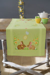 PNV156711 Vervaco Kit Easter Bunnies - Table Runner