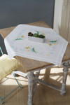 PNV157237 Vervaco Kit Butterflies & Flowers - Tablecloth