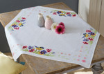 PNV164232 Vervaco Kit Bird & Violets - Tablecloth