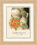 PNV12176 Vervaco Kit Wedding Bouquet Announcement