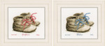 PNV162101 Vervaco Kit Baby Shoes Birth Announcement