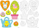 PNV164755 Vervaco Kit Embroidery Easter Ornament Cards (Set of 6)