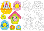 PNV164201 Vervaco Kit Embroidery Easter Ornament Cards (Set of 2)