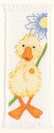 "PNV11211 Vervaco Kit Popcorn - Souffle Bookmark 1.6"" x 4.4""; Ivory Aida 100% Cotton; 16ct"