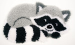 PNV156421 Vervaco Latch Hook Kit Raccoon Shaped Latch Hook Rug