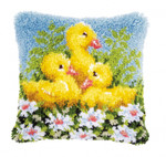 PNV153894 Vervaco Ducks Latch Hook Cushion;