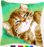 PNV157982 Vervaco Cat Cushion