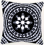 PNV155757 Vervaco Black & White Cushion