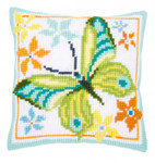 PNV163342 Vervaco Kit Green Butterfly Cushion