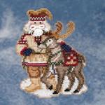 MH209302 Mill Hill Santa Ornament Kit Lapland Santa (2009)