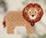 MH182101 Mill Hill Seasonal Ornament Kit Lion Heart (2012)