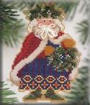 MHWS9 Mill Hill Santa Ornament Kit Holly & Ivy Santa (2001)