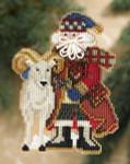 MH208302 Mill Hill Santa Ornament Kit Teton Santa (2008)