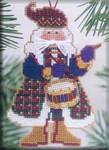 MHMS11 Mill Hill Santa Ornament Kit Drum Santa (2002)