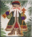 MHWS7 Mill Hill Santa Ornament Kit Bell Ringer Santa (2001)