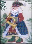 MHMS12 Mill Hill Santa Ornament Kit French Horn Santa (2002)