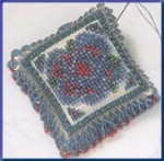 MHBPP6 Mill Hill Special Edition Kit Beaded Pin Pillow Victorian Posey