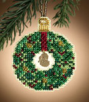 MH161305 Mill Hill Charmed Ornament Kit Emerald Wreath (2011)