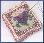 MHBPP5 Mill Hill Special Edition Kit Beaded Pin Pillow Cameo Tulip
