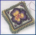 MHBPP3 Mill Hill Special Edition Kit  Beaded Pin Pillow Pansy Petals