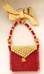MHLPP4 Mill Hill Jewelry Kit Petite Purse La Golden Red (2004)