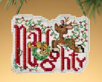 MH169301 Mill Hill Charmed Ornament Kit Naughty (2009)