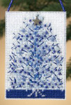 MH160303 Mill Hill Charmed Ornament Kit Silvery Tree (2010)