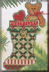 MHCS47 Mill Hill Charmed Ornament Kit Holly Days Stocking (2004)