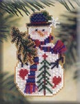 MHSC28 Mill Hill Charmed Ornament Kit Pine Tree Snow Charmer (2001)