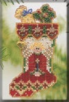 MHCS46 Mill Hill Charmed Ornament Kit Angelic Stocking (2004)