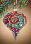 MH161304 Mill Hill Charmed Ornament Kit Garnet Spiral (2011)