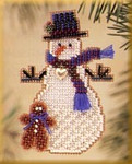 MHSC42 Mill Hill Charmed Ornament Kit Gingerman Snow Charmer (2003)
