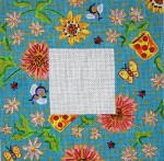 F-114 Bumblebees, Ladybugs, Flowers 4 x 4 18 Mesh FRAME Meredith Collection