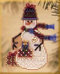 MHSC38 Mill Hill Charmed Ornament Kit Gift Snow Charmer (2003)