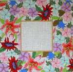 F-186 Spring Bouquet 4 x 4 18 Mesh FRAME Meredith Collection