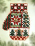 MHCM49 Mill Hill Charmed Ornament Kit Patchwork Holiday (2005)