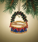MH167305 Mill Hill Charmed Ornament Kit Drum (2007)