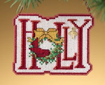 MH169303 Mill Hill Charmed Ornament Kit Holly (2009)