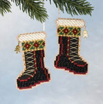 MH166306 Mill Hill Charmed Ornament Kit Santa's Boots (2006)
