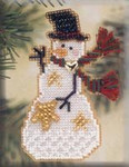MHSC29 Mill Hill Charmed Ornament Kit Star Snow Charmer (2001)