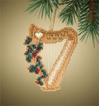 MH167304 Mill Hill Charmed Ornament Kit Harp (2007)