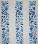 L-39 Blue Floral Three Straps 18 Mesh LUGGAGE STRAP The Meredith Collection